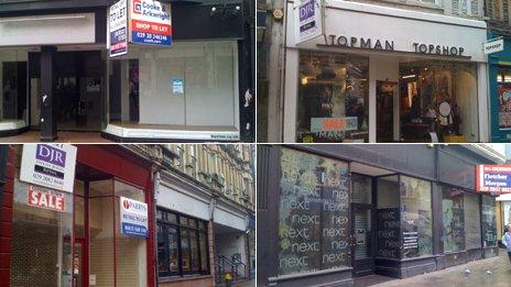 Shops closed in Newport