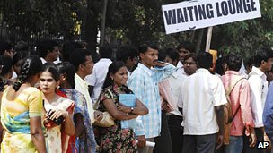 Job seekers in India