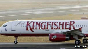 Kingfisher plane, file pic