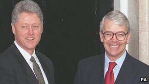 President Bill Clinton (left) and Sir John Major in 1995 