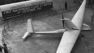 Southampton University's Man Powered Aircraft, (SUMPAC)