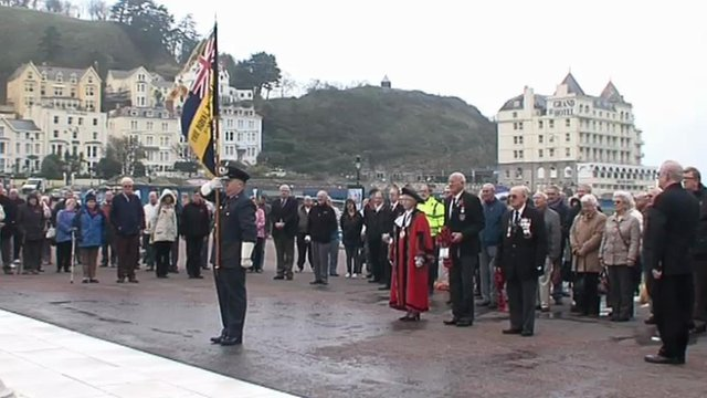 Remembrance event at Llandudno, Conwy county