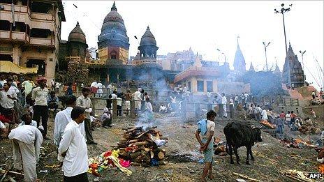 Manikarnika Ghat in Varanasi, India