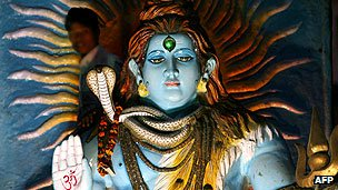 Idol of the Lord Shiva in religious procession
