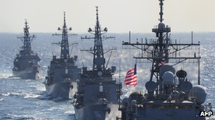 File image of US-Japan military exercises in December 2010