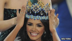 Miss Venezuela, Ivian Sarcos, is crowned Miss World 2011 in Earls Court in west London