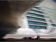 Jenson Button's McLaren at Abu Dhabi's Yas Marina Circuit