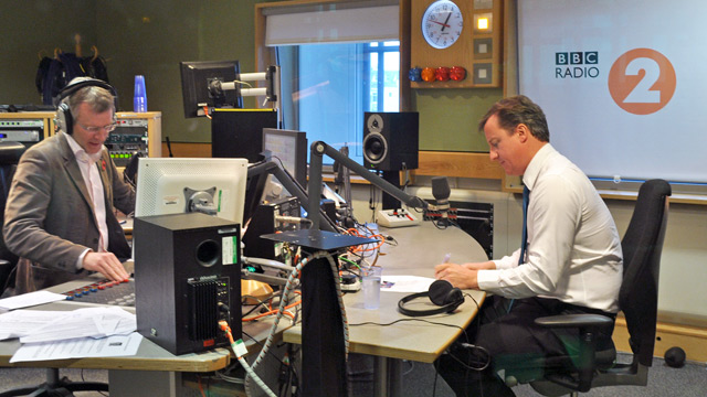 David Cameron joins BBC Radio 2's Jeremy Vine