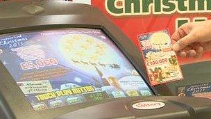 Electronic lottery kiosk