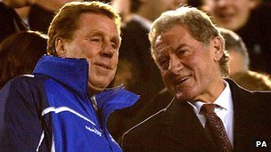 Harry Redknapp (left) with Milan Mandaric during their time at Portsmouth Football Club