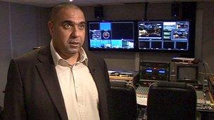 Station manager Yasser Al-Sayegh