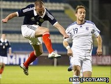 Kenny Miller scores for Scotland