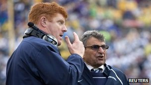 Mike McQueary at Penn State game on 1 January 2010
