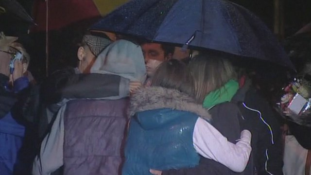 Victims' family members were invited to be part of the vigil
