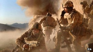 M Company, 42 Commando Royal Marines, carrying out Operation Volcano in Northern Helmand Province, Afghanistan
