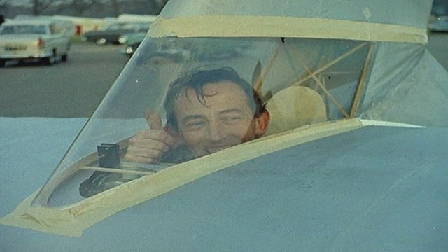 On 9 November, 1961, gliding instructor Derek Piggott took off from Lasham Airfield in a pedal-powered aircraft.