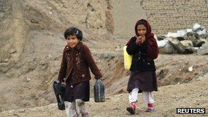 Girls in Kabul 9 November 2011
