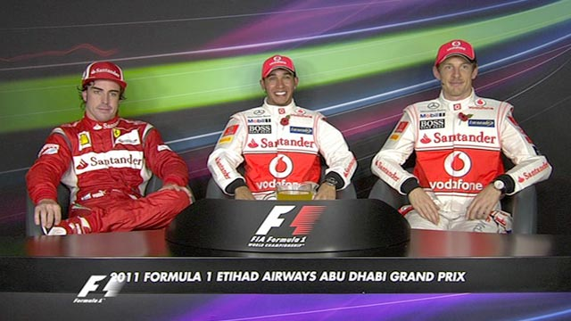 Abu Dhabi Grand Prix - top three drivers