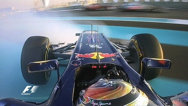 Sebastian Vettel spins out of Abu Dhabi GP