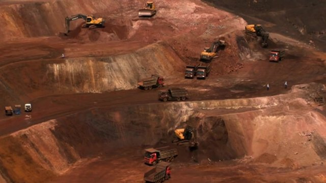 Iron ore production in Goa