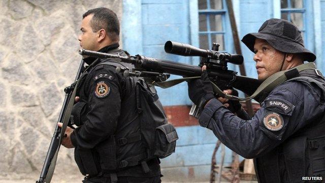 Police in Brazil