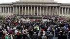 A Remembrance Day service at Liverpool's St George's Hall