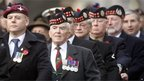 A Remembrance Sunday parade in Edinburgh