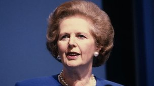 Margaret Thatcher pictured in 1989