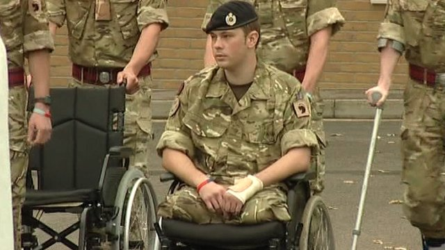 Soldier in a wheelchair