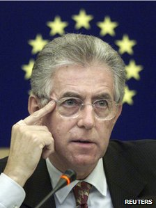 Former EU Commissioner and Italy's Prime Minister Mario Monti