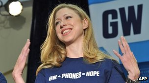Chelsea Clinton at a charity event in Washington DC, 18 October 2011