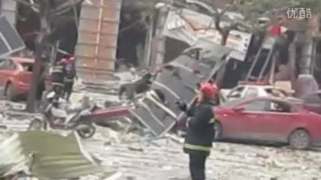 Aftermath of explosion in North East China