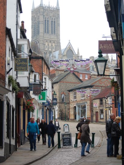 Bbc News Exploring Lincoln S Steep Hill Officially