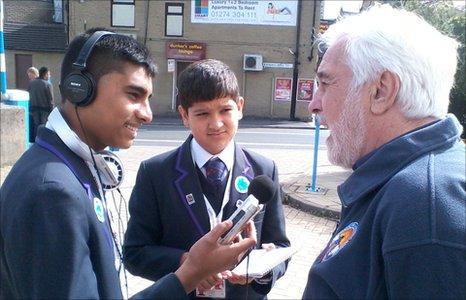 School Reporters in action