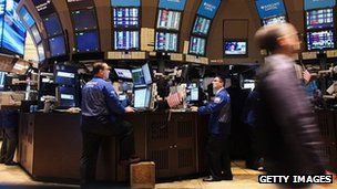 Traders on the stock market floor