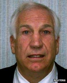 Jerry Sandusky, former defence coach for Penn State's football team 5 November 2011