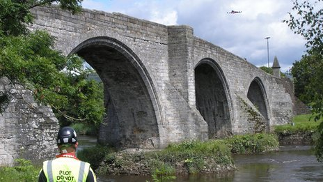 Surveying Stirling Bridge