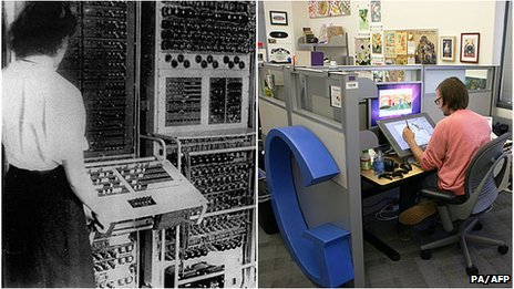 A worker at Bletchley Park and a Google employee