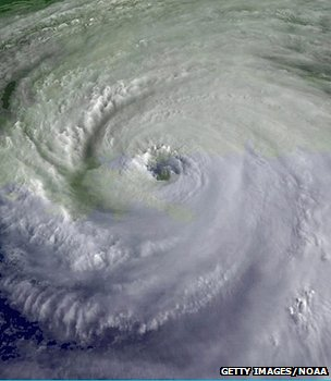 Satellite image of Hurricane Katrina, August 2005 (Image: Getty Images/NOAA)