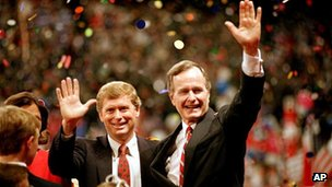 Dan Quayle with George Bush Sr