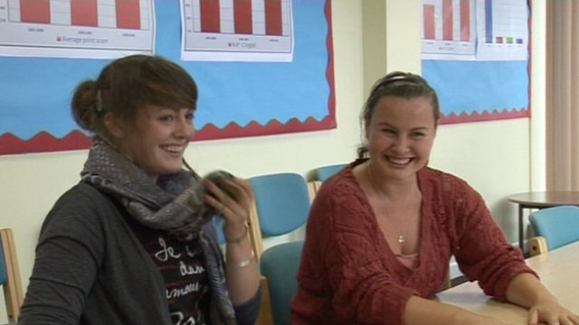 Students in a Russian lesson