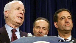 John McCain, Chuck Schumer and Russ Feingold