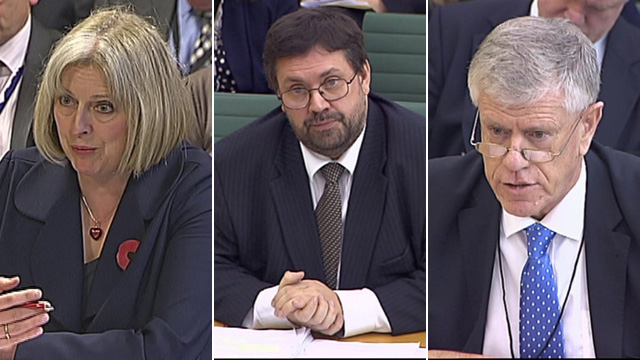 Theresa May, Rob Whiteman, Brodie Clark