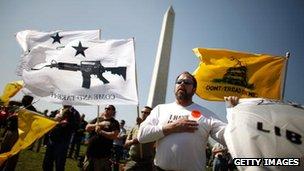 A pro-gun rally