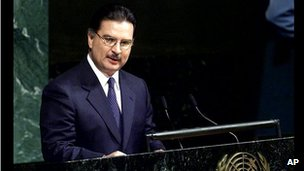 Alfonso Portillo at the UN in 2001