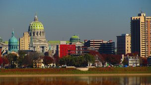 Skyline of Harrisburg, Pennsylvania