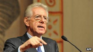 Mario Monti speaks to journalists in Rome - 15 November 2011