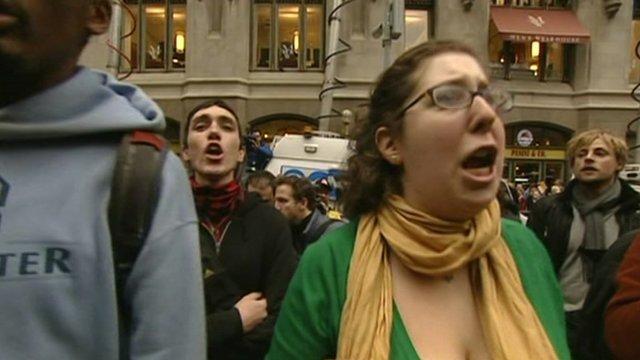 Occupy protestor in New York
