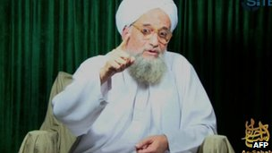Ayman al-Zawahiri in a still from the video