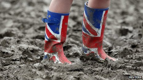 Wellington boots at Glastonbury Festival